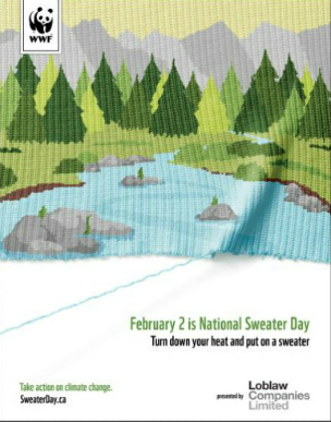 National Sweater Day River Poster  	© WWF-Canada