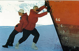 Sonja and Thomas Bata in Antarctica in 1978