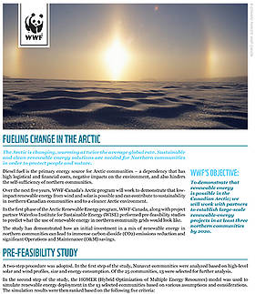 Fuelling Change in the Arctic  	© WWF-Canada